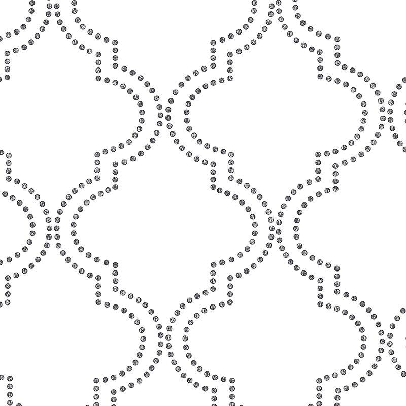 "Symetrie 33' x 20.5"" Tetra Quatrefoil Wallpaper Roll"