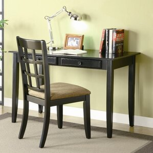 eanes writing desk and chair set black