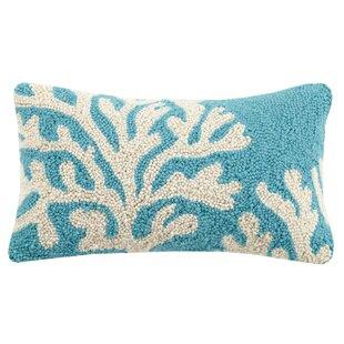 Calm Coral Wool Lumbar Pillow