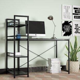 Reviews Bermondsey Glass Top Writing Desk ByBrayden Studio