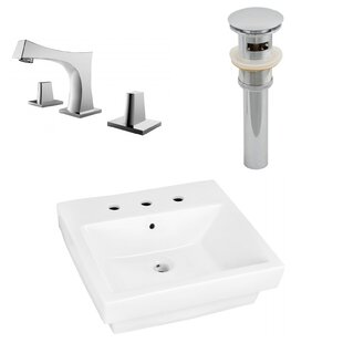 Best Reviews Ceramic Rectangular Bathroom Sink with Faucet and Overflow By Royal Purple Bath Kitchen