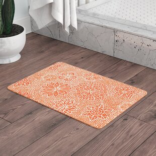 Julia Grifol Garden Flowers Floral Memory Foam Bath Rug by East Urban Home Great price