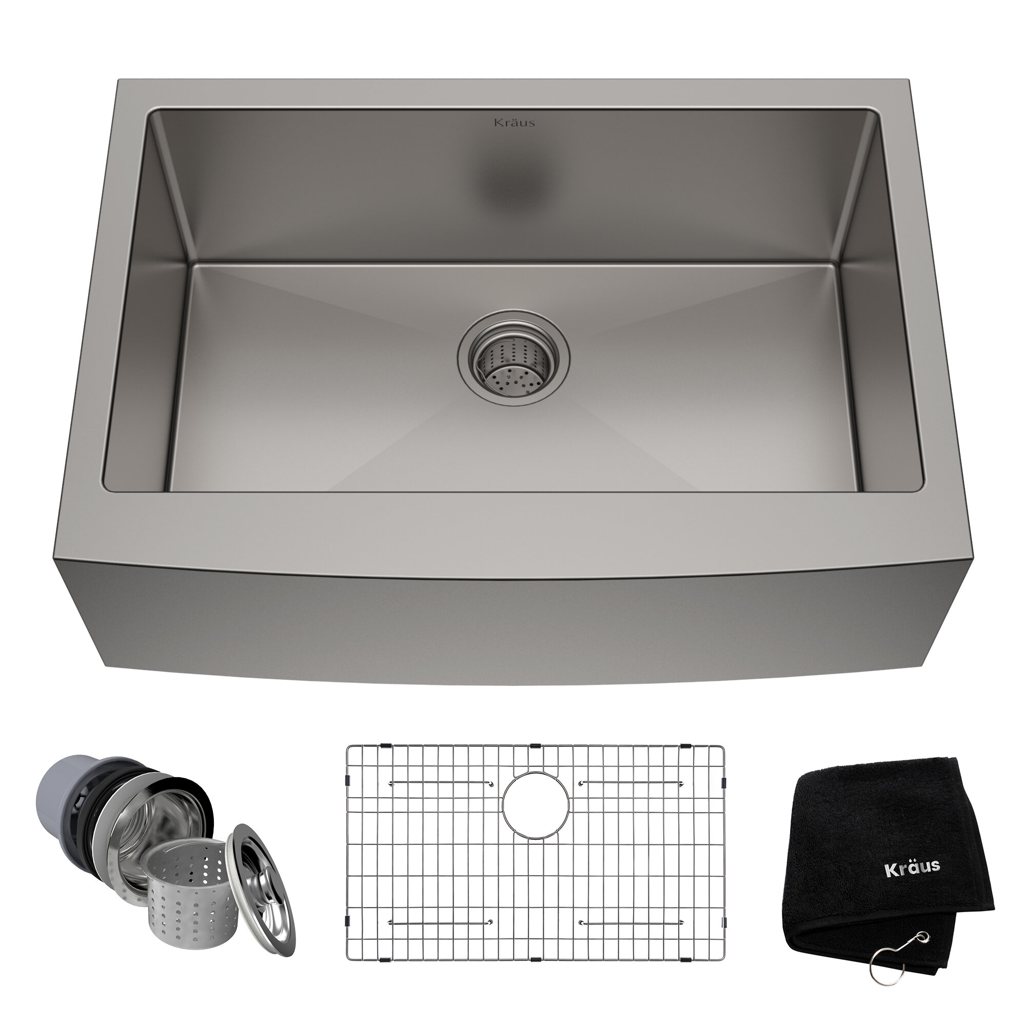 30 L X 21 W Farmhouse Kitchen Sink