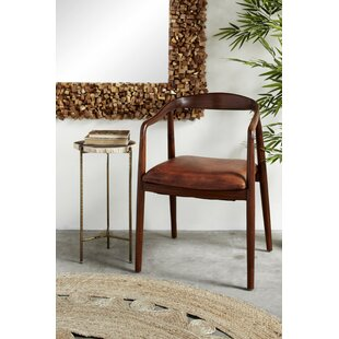Flood Genuine Leather Upholstered Dining Chair Union Rustic