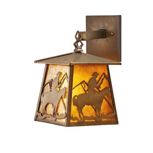 Yamada Cowboy 1-Light Outdoor Wall Lantern By Loon Peak Outdoor Lighting