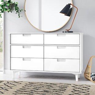 Mid Century White Dresser