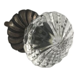 Flower On Back Plate Crystal Knob