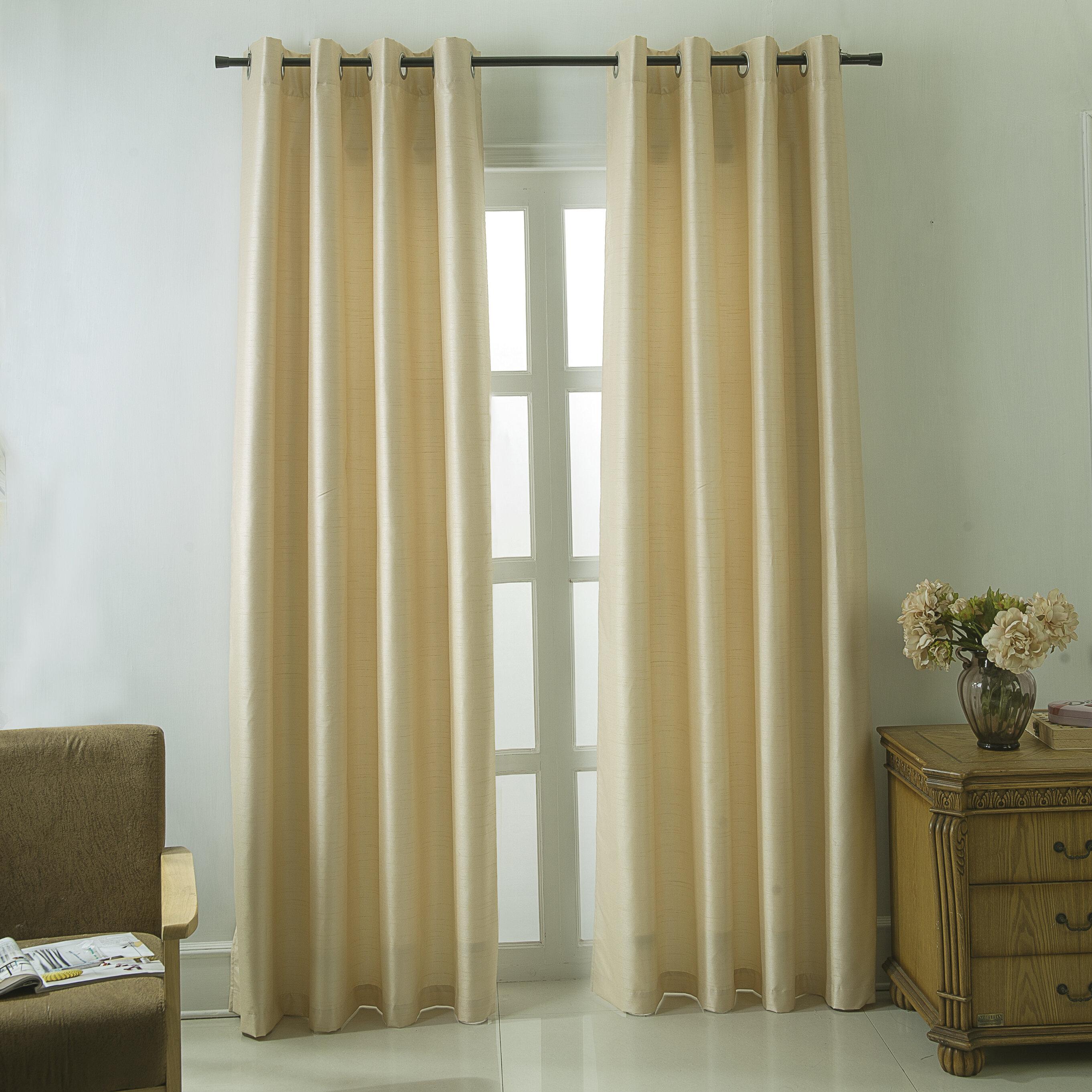 Canora Grey Schaaf Solid Room Darkening Thermal Grommet Single Curtain Panel Reviews Wayfair