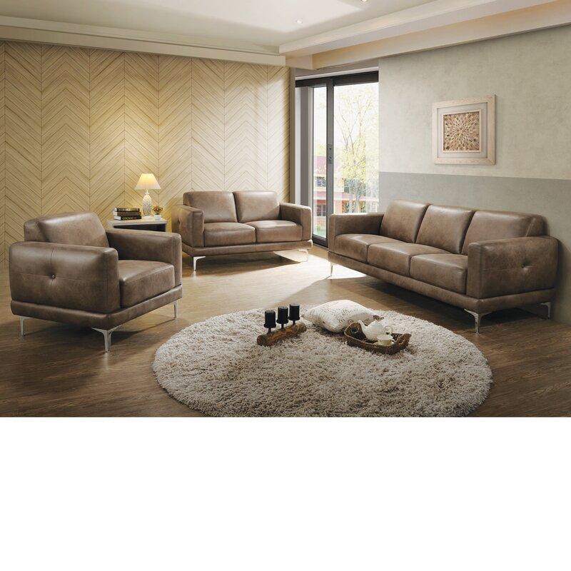 Burton 3 Piece Living Room Set