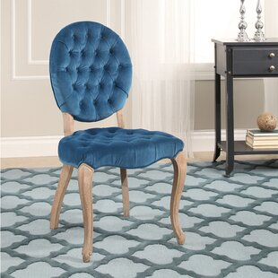 Manlius Vintage Oval Tufted Velvet Upholstered Dining Chair