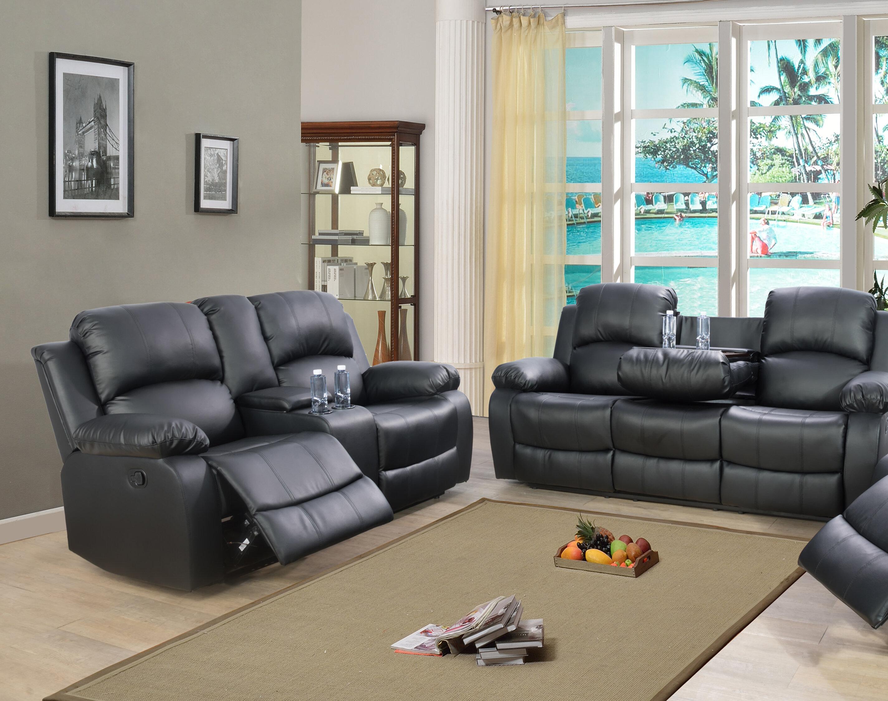 Red Barrel Studio Chesham Bonded 2 Piece Reclining Living Room Set