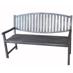 Katelyn Slatted Metal Park Bench