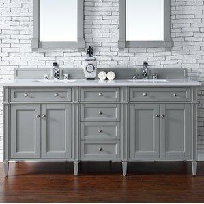 Brittany 72 Double Bathroom Vanity Base