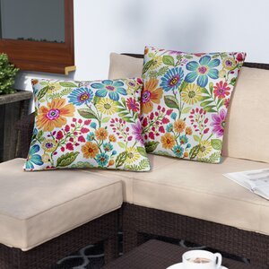 Paxton Floral Indoor/Outdoor Throw Pillow (Set of 2)