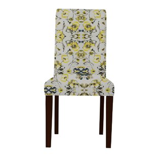 Latitude Run Beachwood Yellow Flowers Parsons Chair (Set of 2)