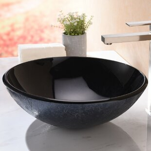 Reviews Arc Glass Circular Vessel Bathroom Sink By ANZZI
