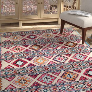Reviews Chagnon Brown/Pink/Black Area Rug ByBungalow Rose