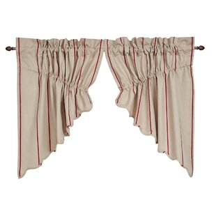 Boucher Scalloped Prairie Swag Curtain Valance (Set of 2) by Laurel Foundry Modern Farmhouse
