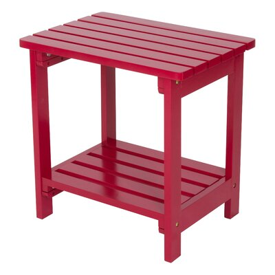 Arcel Wood Side Table Color: Chili Pepper by Beachcrest Home