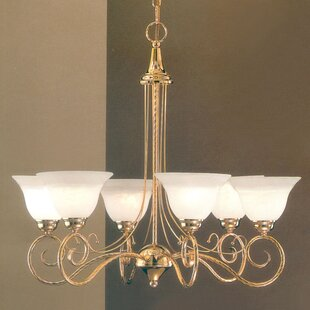 Inexpensive Torino 6-Light Shaded Chandelier By Classic Lighting