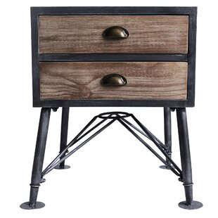 17 Stories Makenna 2 Drawer Nightstand