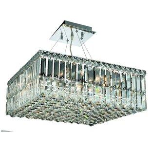 Rosdorf Park Bratton 12-Light 60W Semi Flush Mount