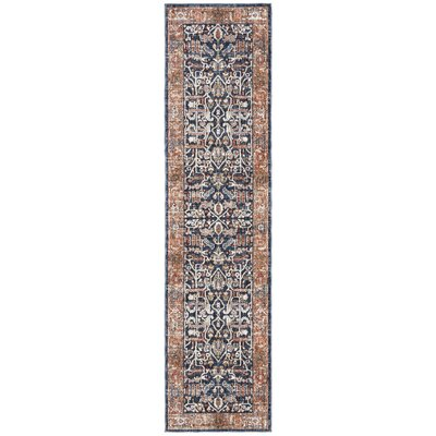 Joss Mainpower Loom Gray Blue Red Rug Rug Size Runner 2 X 8 Dailymail