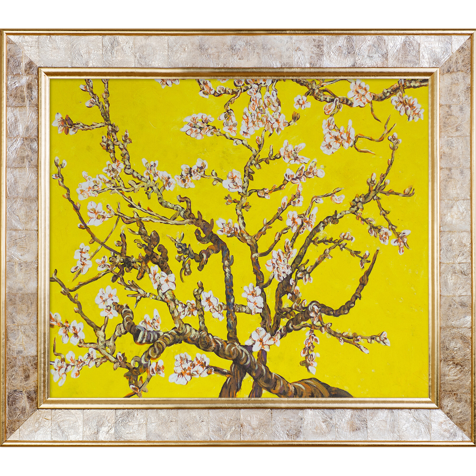 Tori Home Branches of an Almond Tree in Blossom, Citrine Yellow\' by ...