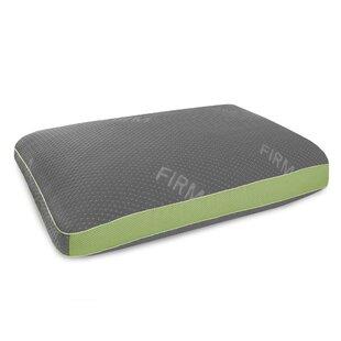 Vivienne Memory Foam and Gel Fiber Standard Pillow with Tencel Cover