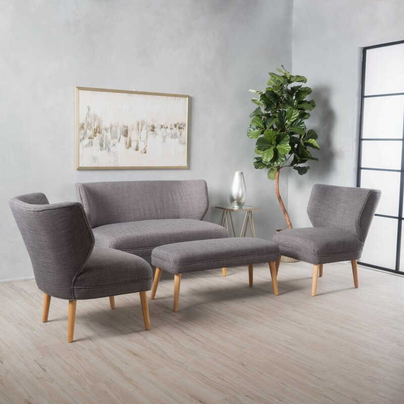 Langley Street Raleigh 3 Piece Living Room Set & Reviews   Wayfair