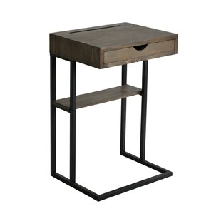 Randazzo Metal and Wood End Table with Storage