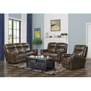 Jimmy Leather Reclining Configurable Living Room Set By Barcalounger