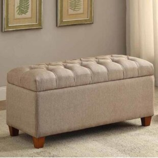 Charlton Home Locke Upholstered Storage Bench