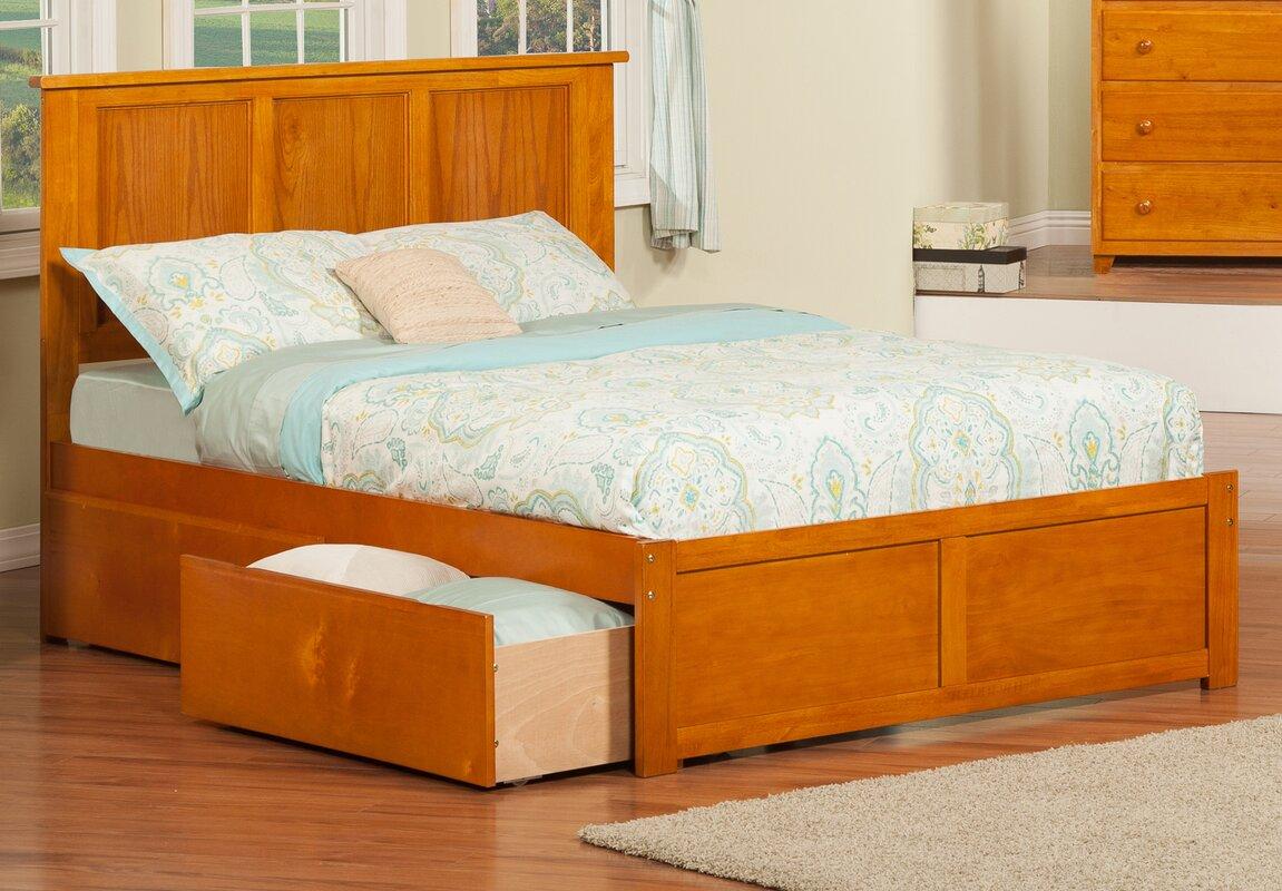 Viv Rae Deandre Wood Storage Platform Bed Reviews Wayfair