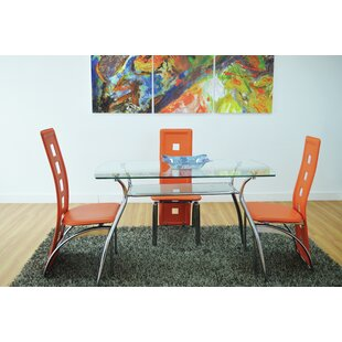 Penning Glass Top Dining Table by Ebern Designs Great Reviews