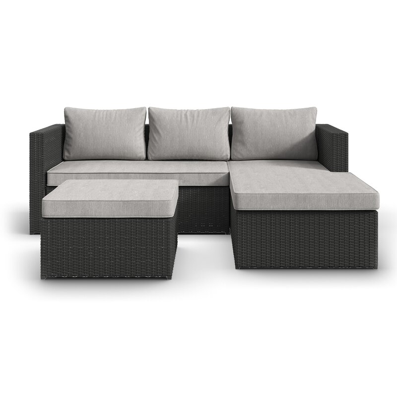 Awesome Hammontree Patio Sectional With Cushions