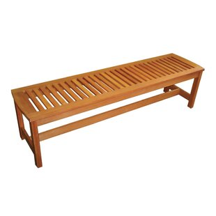 Serenity Backless Wood Picnic Bench