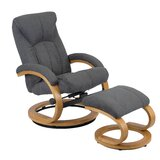 Shayna Manual Recliner with Ottoman by George Oliver