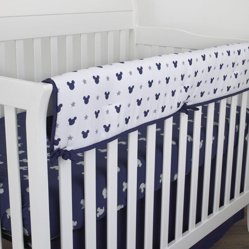 Reversible Baby Cot Crib Teething Rail Cover Protector ~ Tsum Tsum