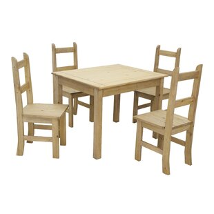 Heathcote Dining Set With 4 Chairs By Brambly Cottage