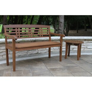 Lympsham Wooden Park Bench by Charlton Home Amazing