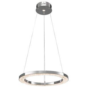 ?lan Lighting Crushed Ice� 1-Light Drum Pendant