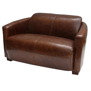 Rainey Leather 2 Seater Loveseat By Williston Forge