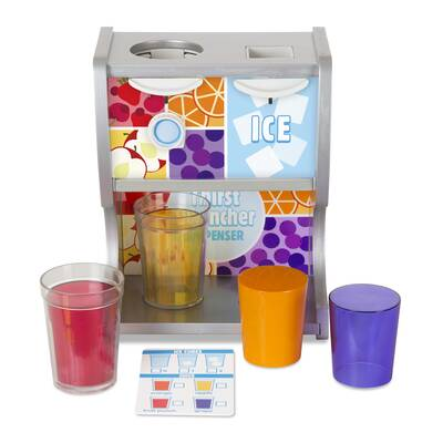 Melissa Doug 6 Piece Tip And Sip Toy Juice Bottles Play