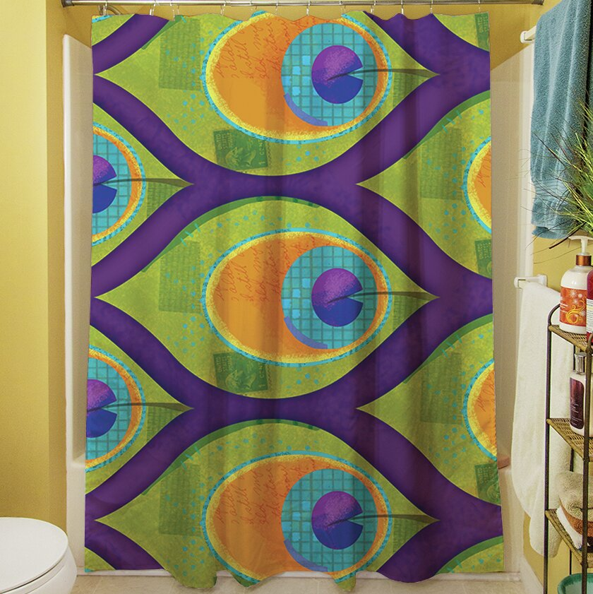 Manual Woodworkers Weavers Peacock Shower Curtain