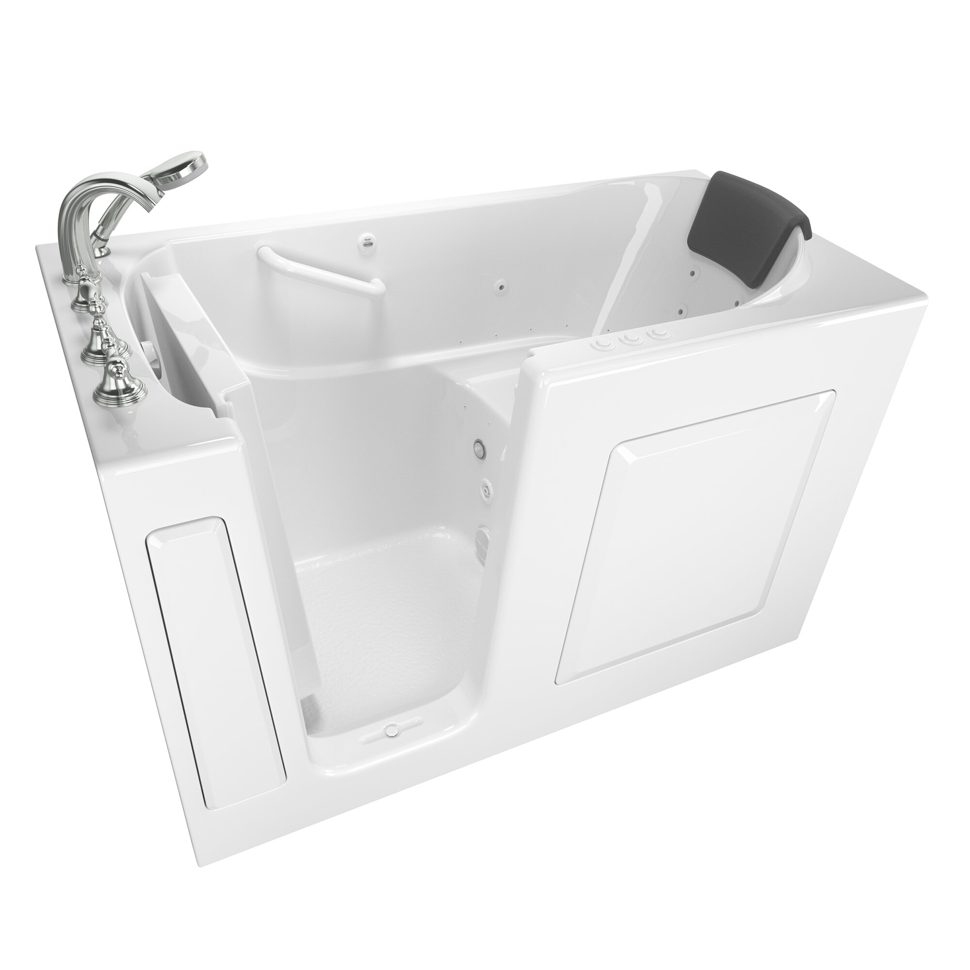 American Standard 60 X 30 Walk In Combination Fiberglass Bathtub With Faucet And Heater Reviews Wayfair
