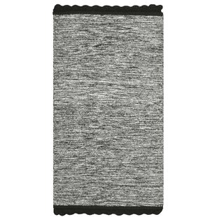 Compare prices Mohnton Hand-Woven Black/Gray Area Rug ByGracie Oaks