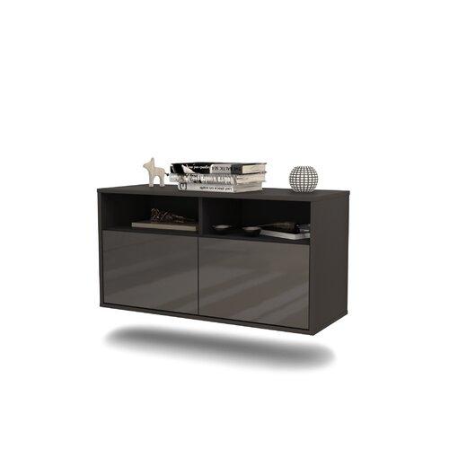 TV-Rack Columbus Ebern Designs Farbe: Grau Hochglanz | Wohnzimmer > TV-HiFi-Möbel | Ebern Designs