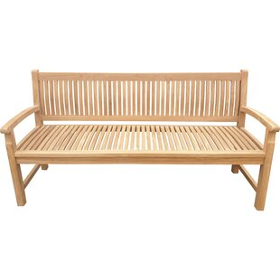 Catlett Teak Garden Bench by Highland Dunes