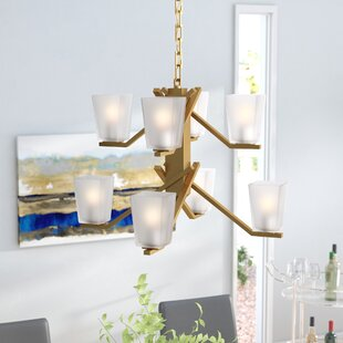 Check Prices Balogh 8-Light Shaded Chandelier By Wade Logan